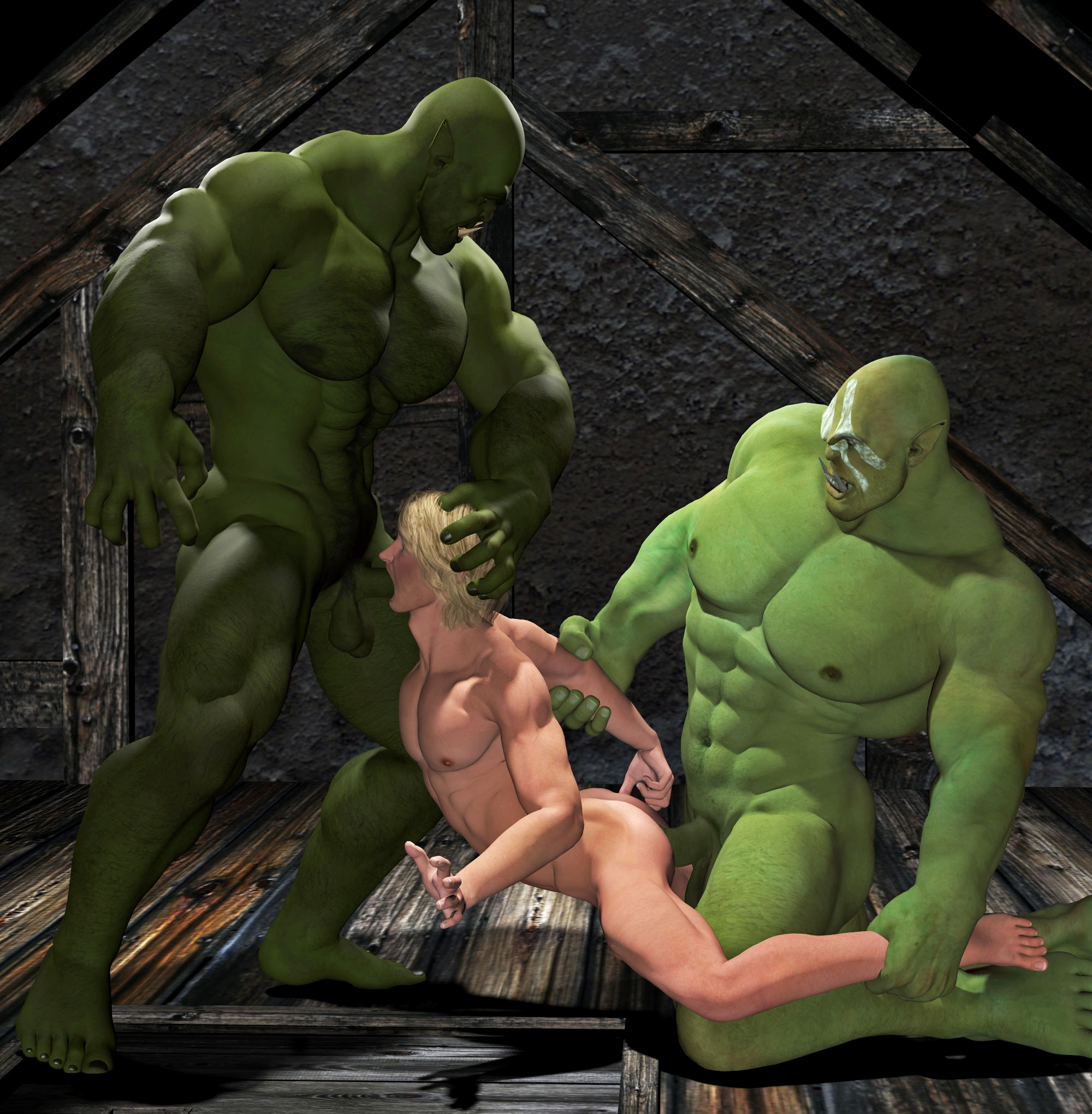 Fantasy monsters sucking human male cocks nsfw slaves