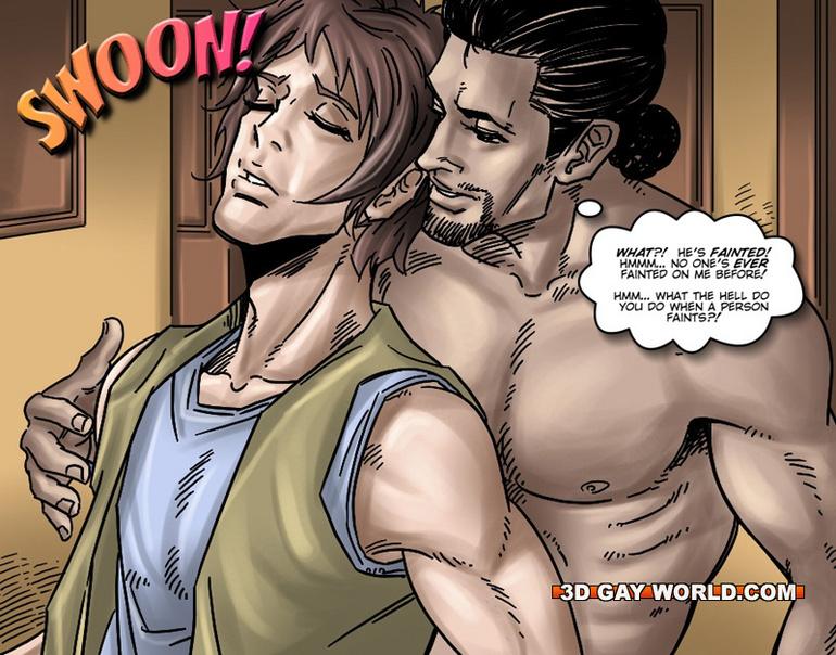 3d anime muscular gays foursome handjob 2