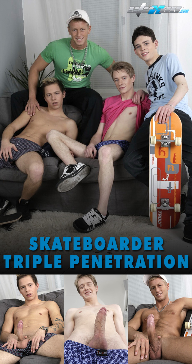 anal gay porn pics penetration anal horny triple collages staxus four amazing skateboarders