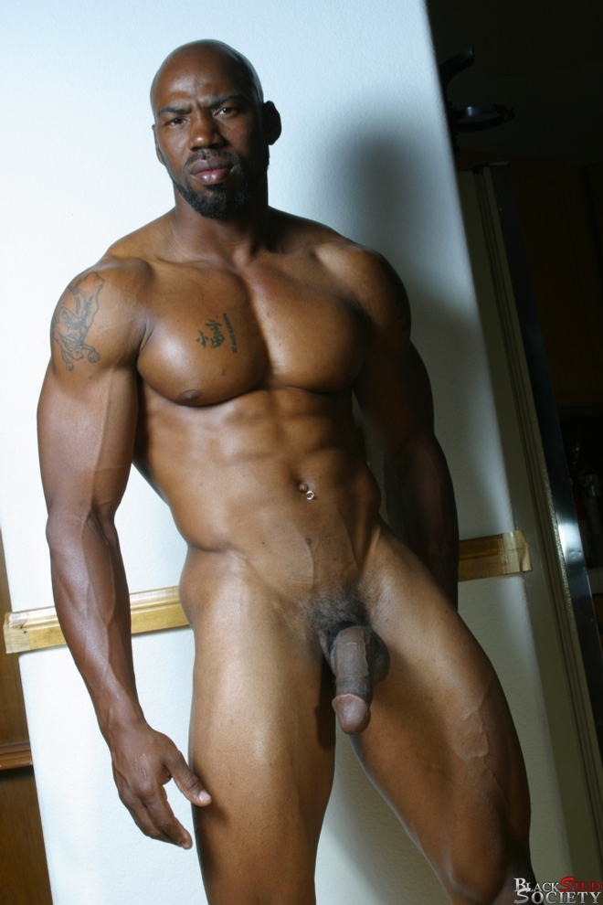 from Darrell black gay hunk muscle