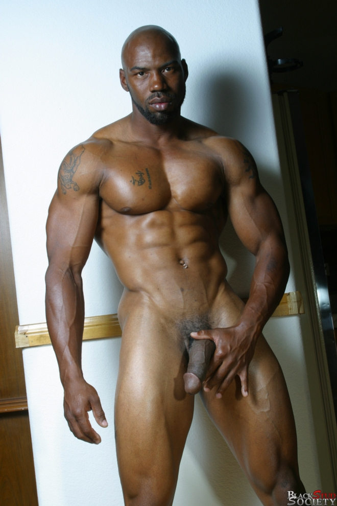With men beards black nude