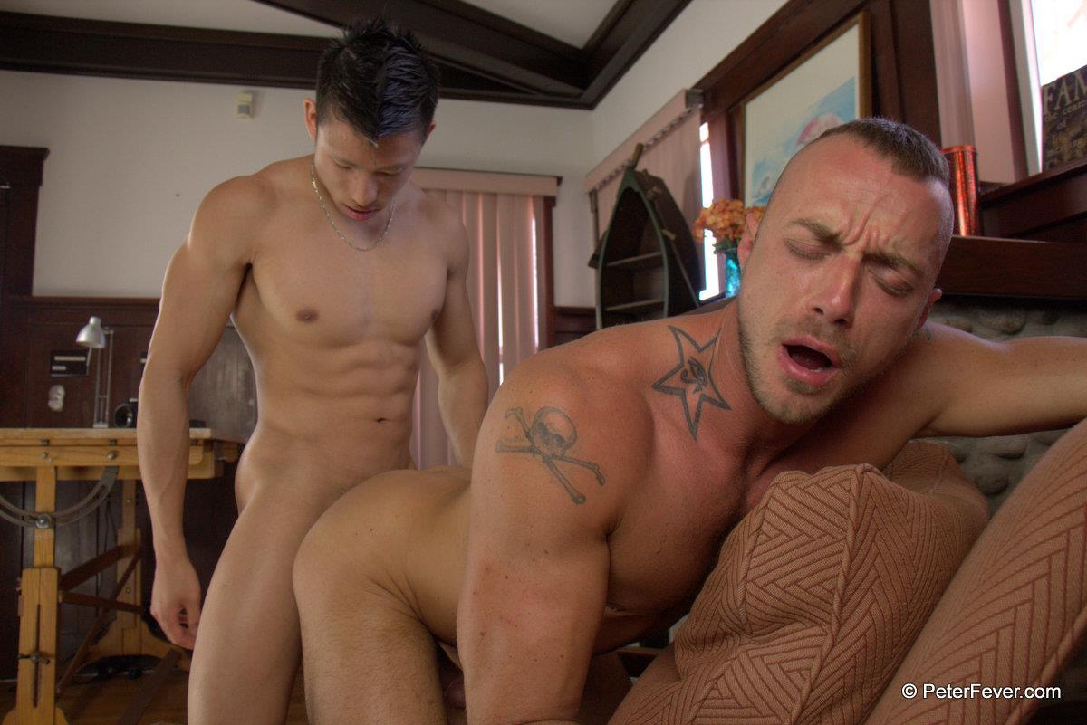 gay men rubbingntheir cock together
