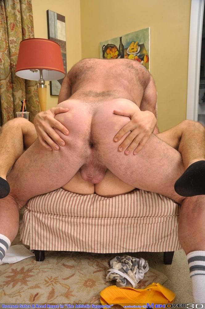bare back gay cum filled ass