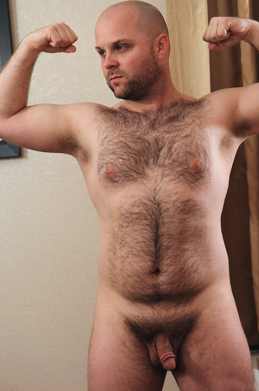 Hairy naked male models