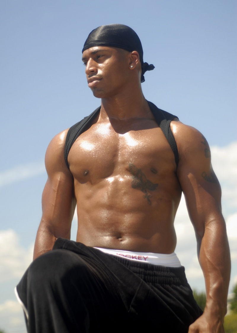 Hot naked black guy