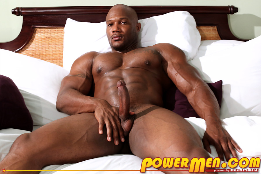 strong man naked with hard on