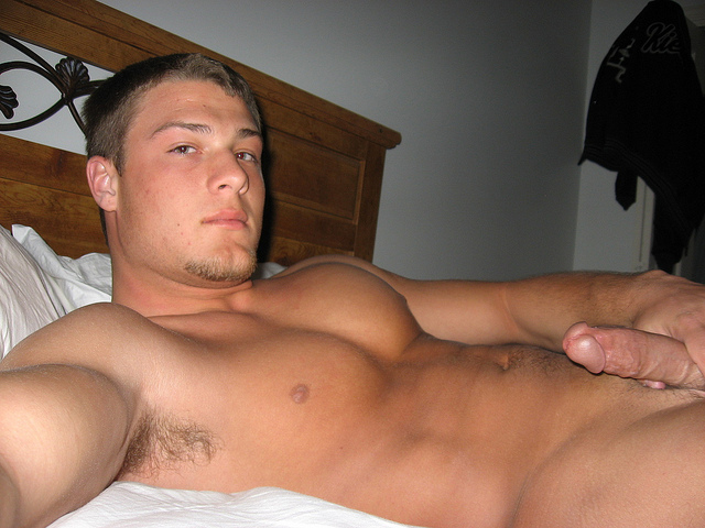hot gay guy naked on the bed