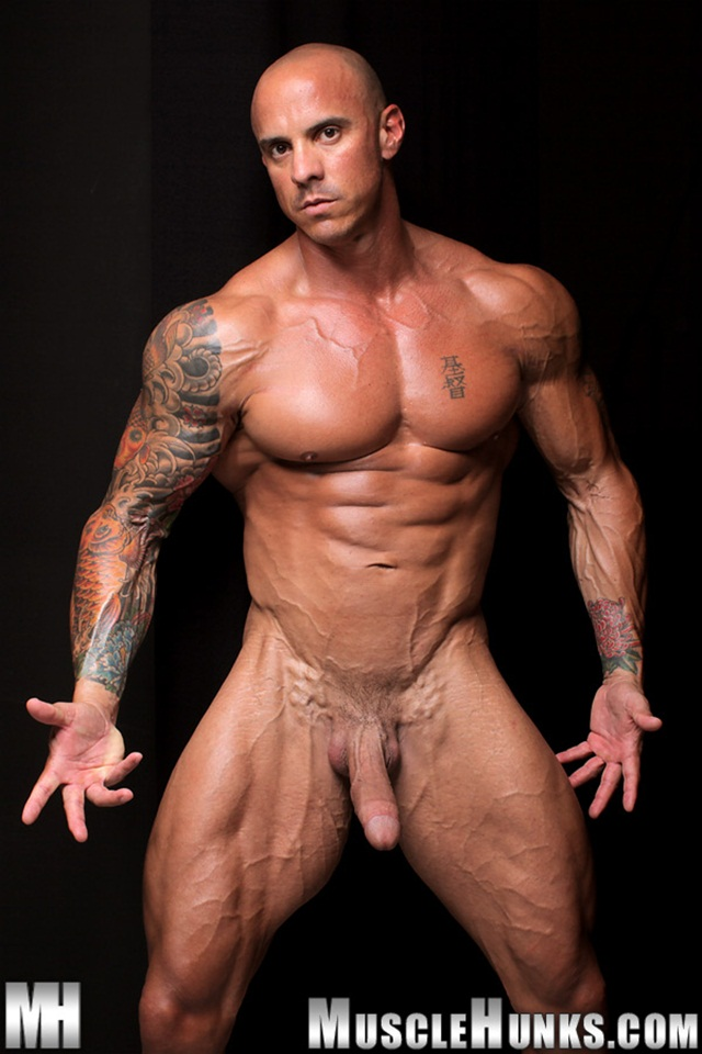 Naked Male Bodybuilder Muscle Ripped Cock Hard His