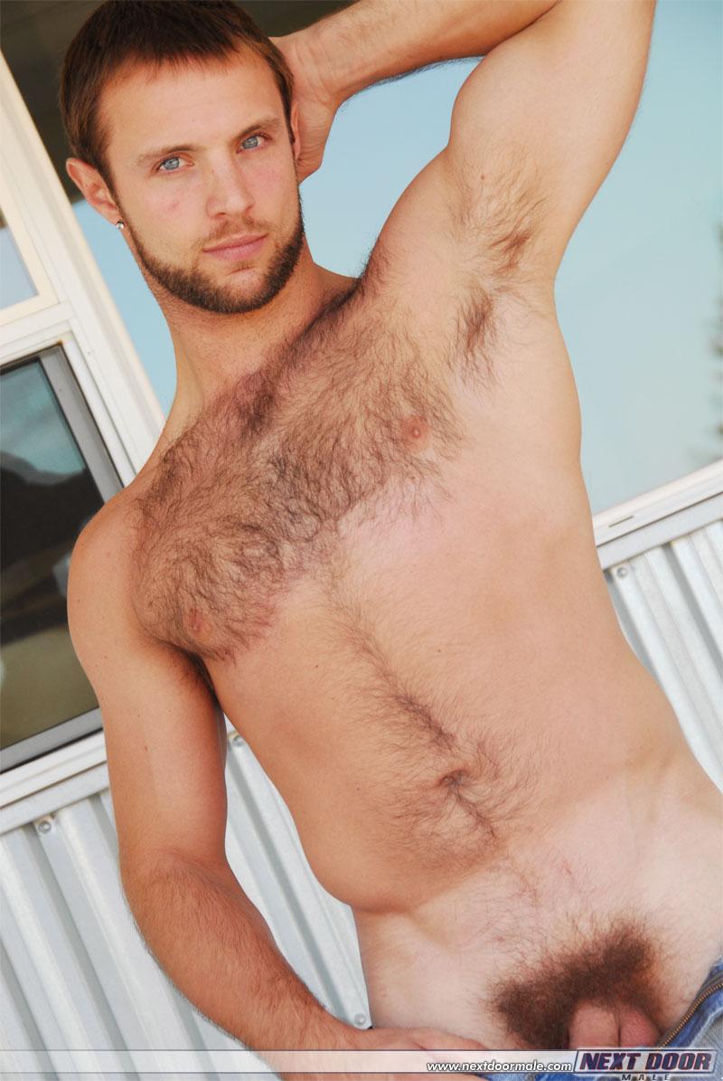 Men hairy naked Blond hair