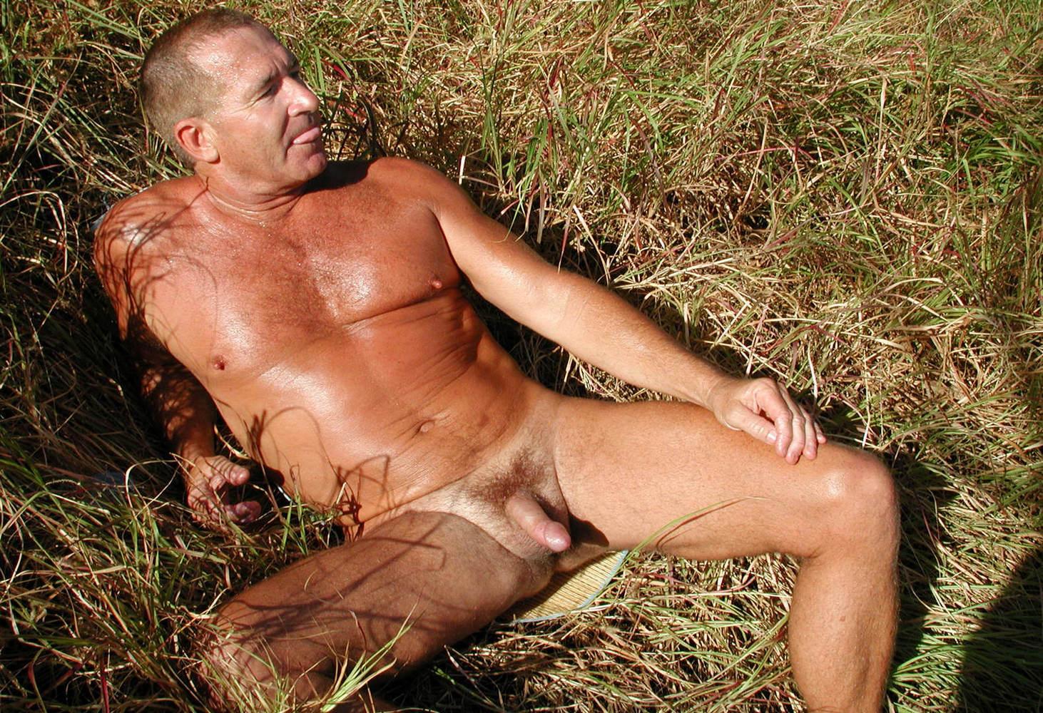 muscular men laying naked