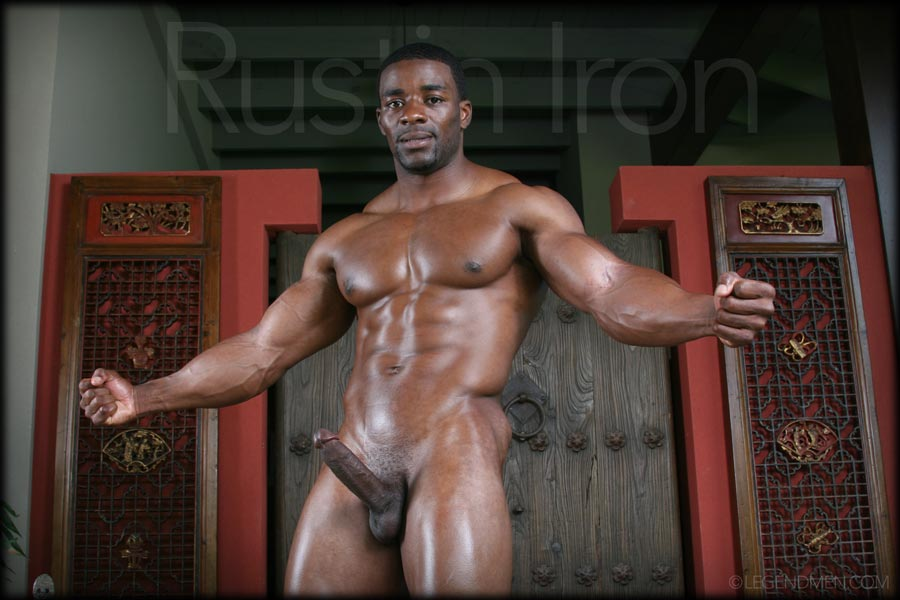 Body building nude male