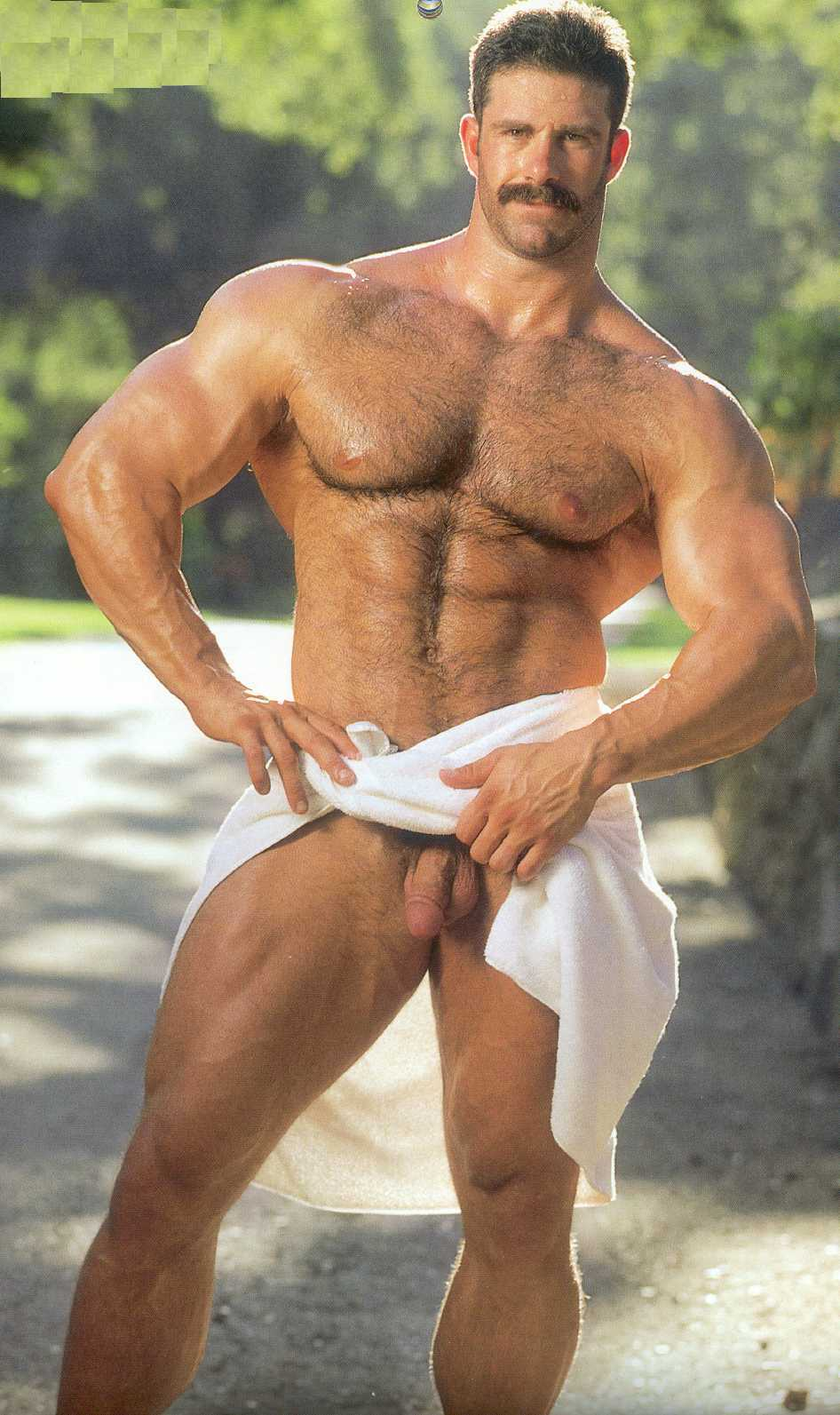 hairy naked men muscle