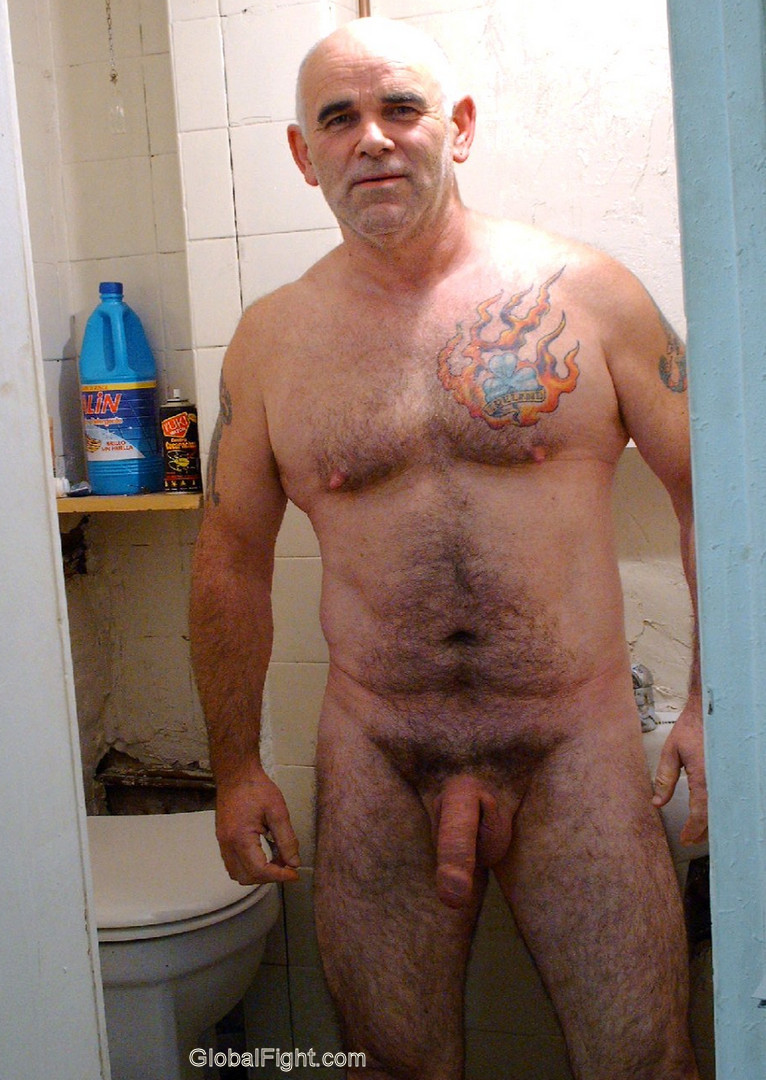 from Franklin hairy guy in bath naked