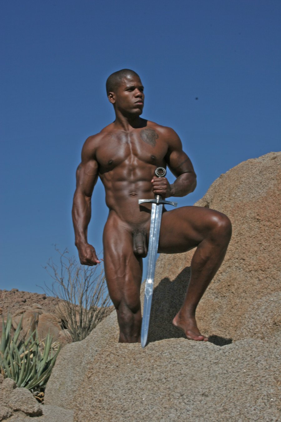 Male sex naked warrior