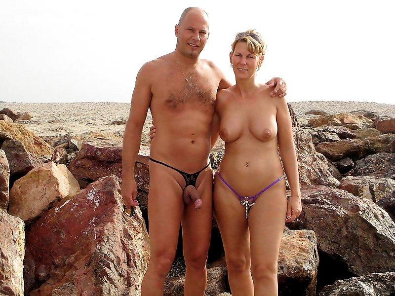 голые пары на пляже-фото