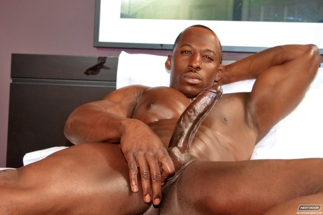 Adonis' big black cock next door ebony