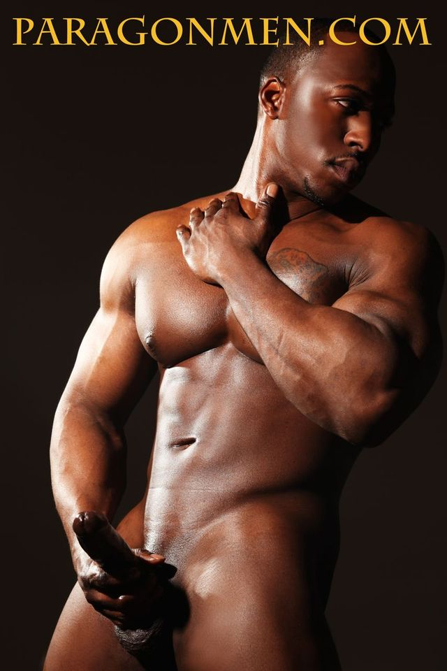 Adonis' big black cock muscle hunk pic black men adonis jay cock gets naked his paragon male afternoon this strokes street stripper shopping passed center broadway