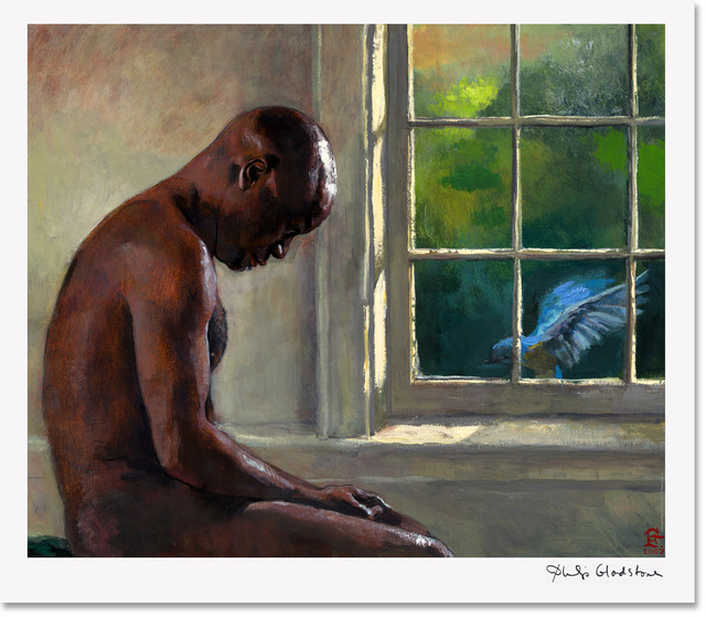 African males nude blue male nude american store art philip african print bird philipgladstone prints itm gladstone signed limited