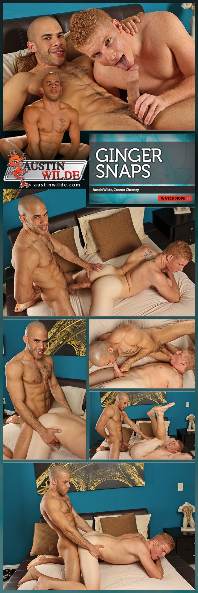 Austin Wilde Porn hunks austin wilde ginger connor chesney snaps