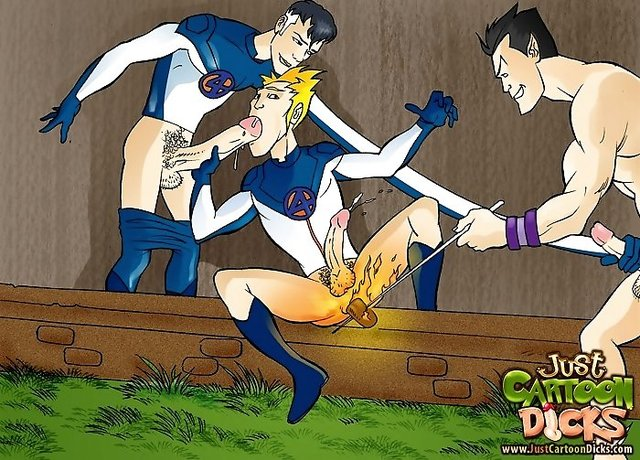 bdsm gay porn Pic dicks cartoon four fantastic