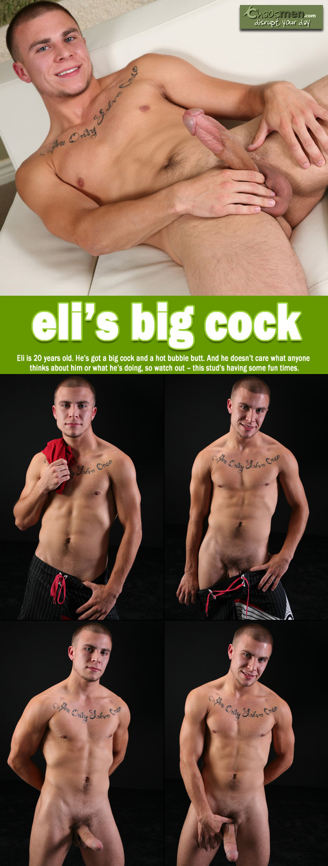 Big dick Male Gay Porn men chaos bottom collages eli chaosmen dicked