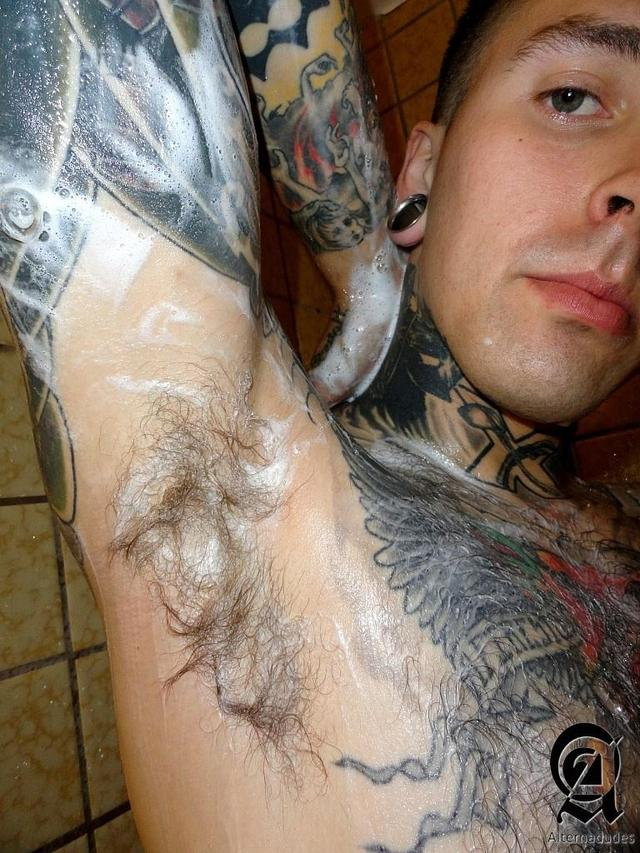 big penis gay porn porn cock gay tattoo jerking amateur guy alternadudes tatted hipster shower ruckus