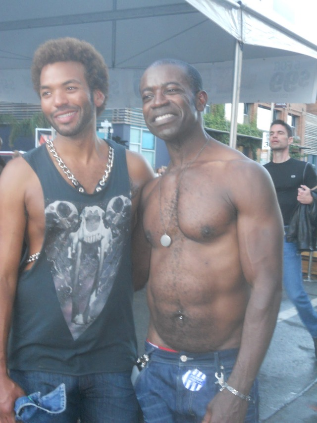 black hunk muscle muscle black smooth male couple folsom fair objectifying