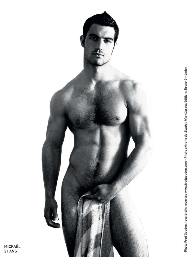 black naked men models black white may fred goudon