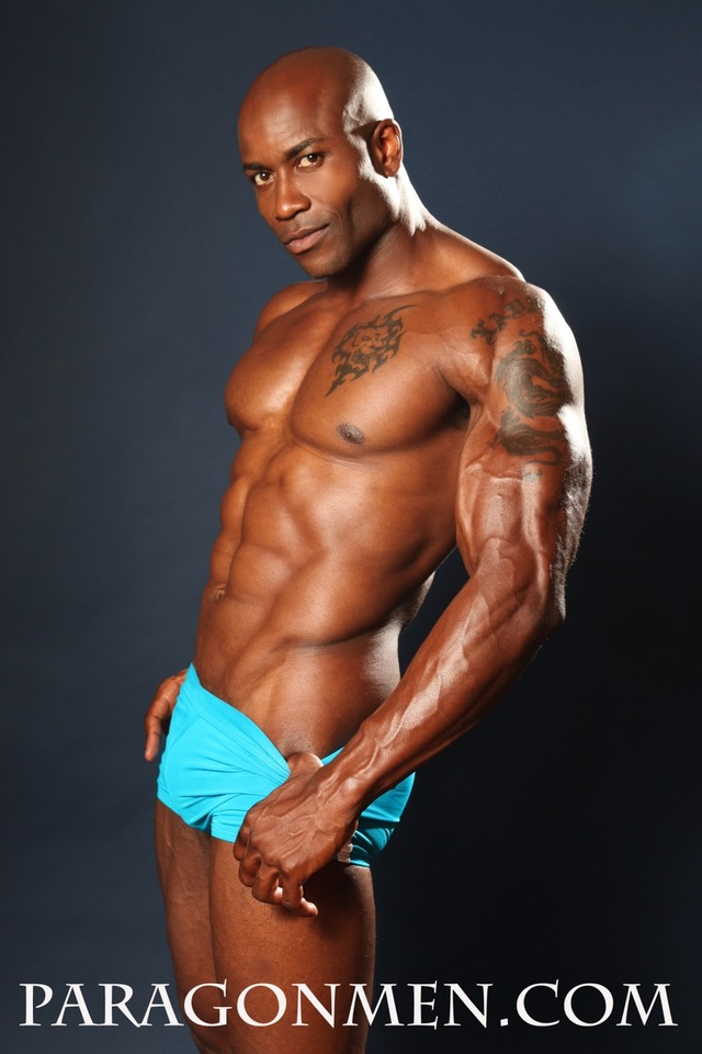 Black muscleman naked