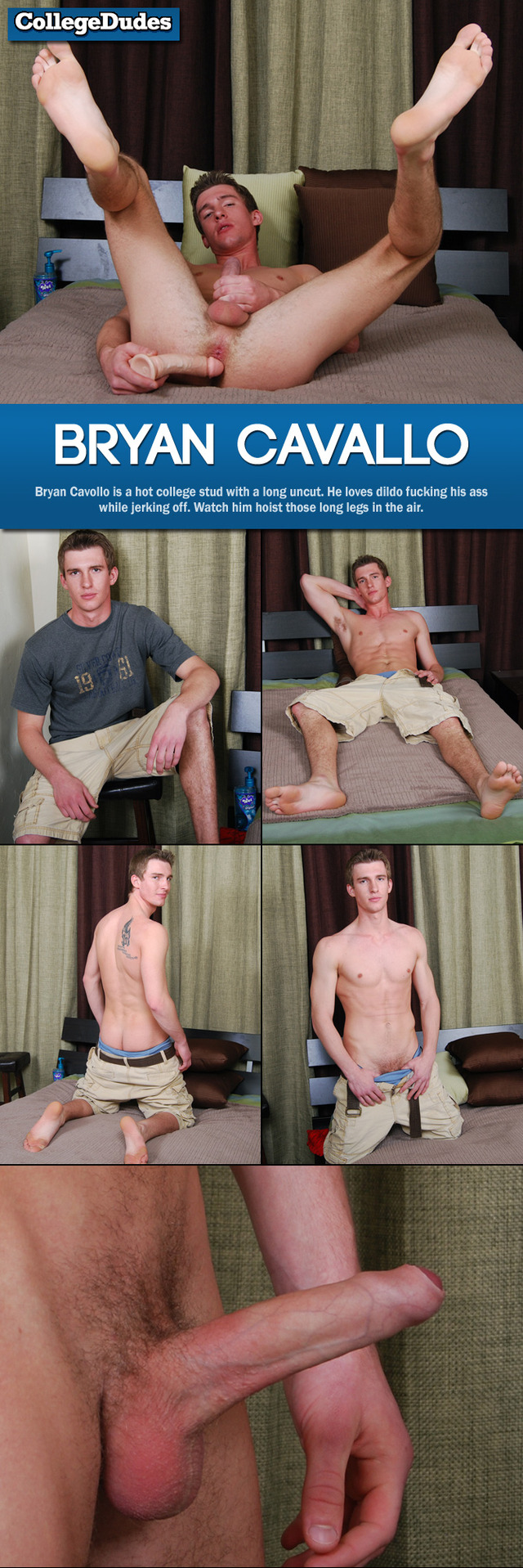Bryan Cavallo naked fucking collegedudes bryan cavallo collages session dildo