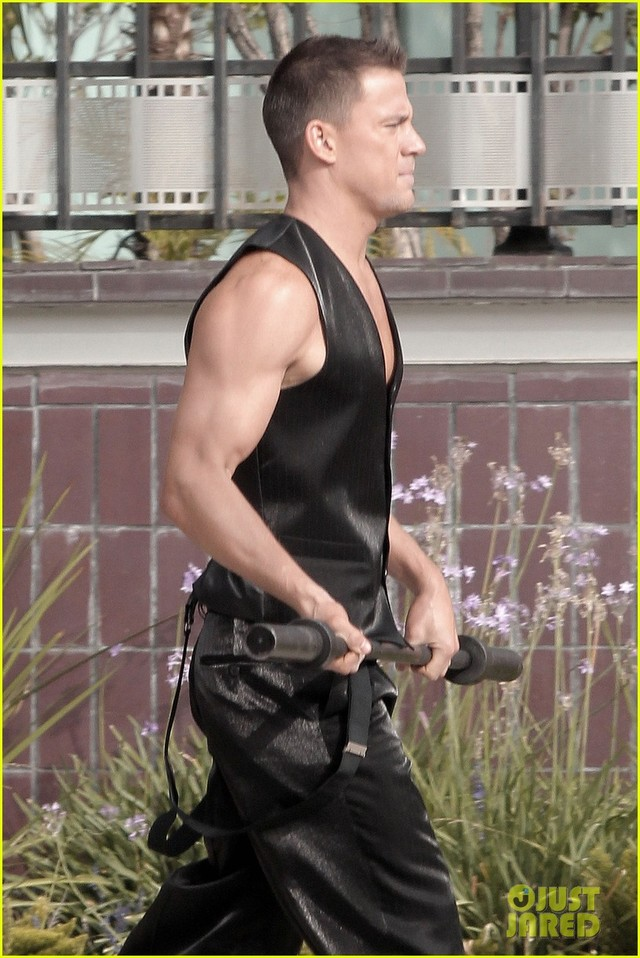 Channing Tatum Porn black channing tatum mike set magic trailer los angeles wednesday vest