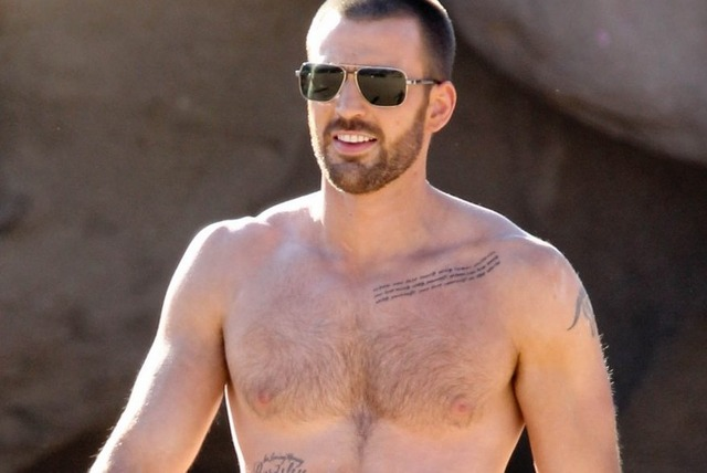 Chris Evans Gay Nude magazine photo chris shirtless hottest evan evans ever shoot jared details sized