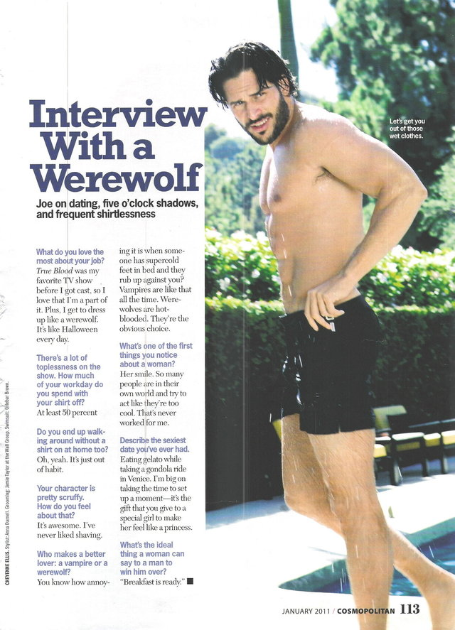 Joe Manganiello Porn shirtless joe manganiello cosmopolitan