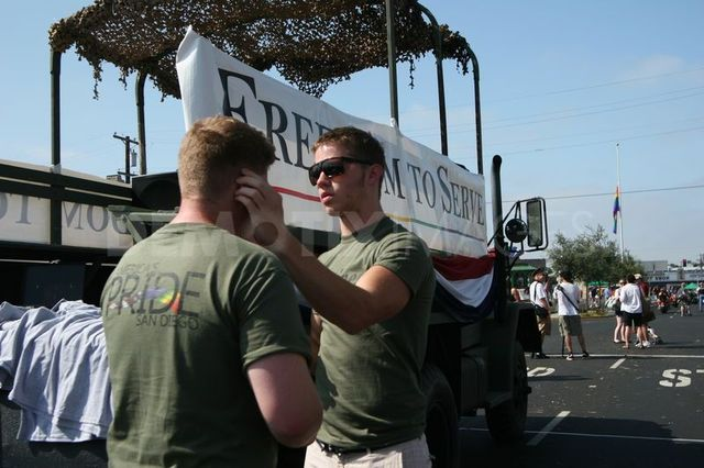 Military Gay Pics gay news photos large military scale pride uniform parade march allowed