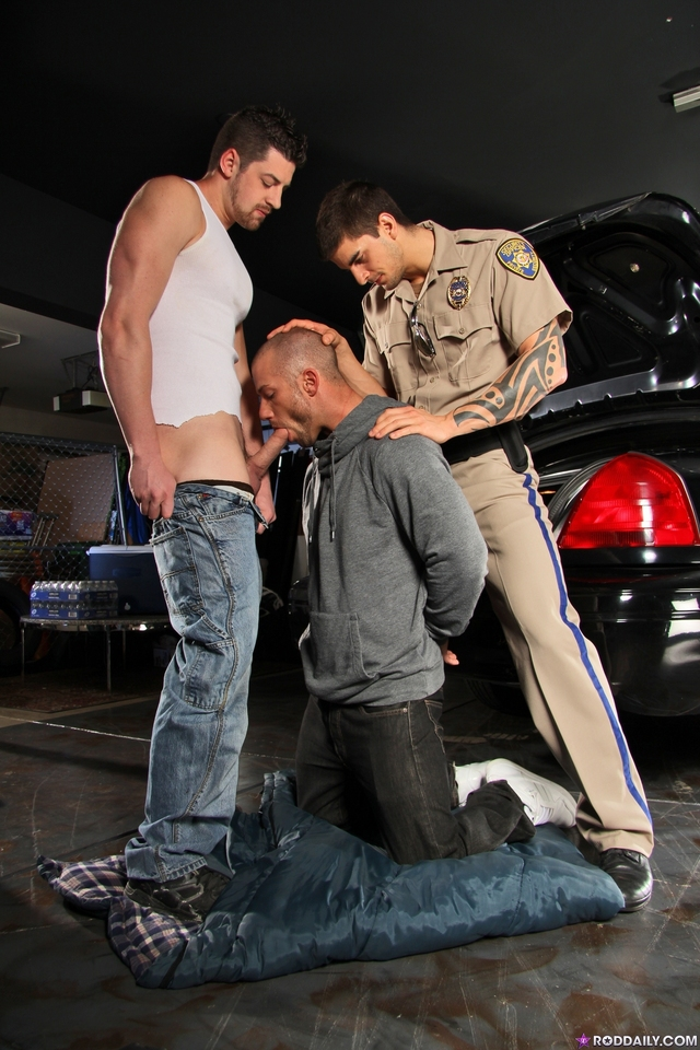 Tyler Torro Porn fucked threesome andrew daily rod tyler torro stark officer cop caught criminal