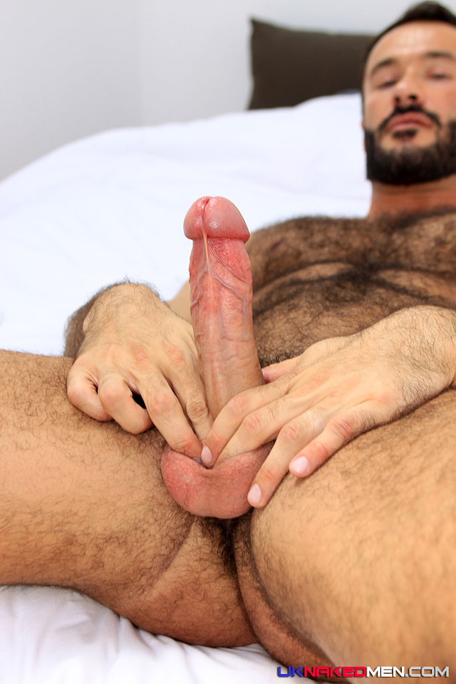 Wilfried Knight Porn hairy muscle hunk wilfred knight men cock naked jerks his uncut solid