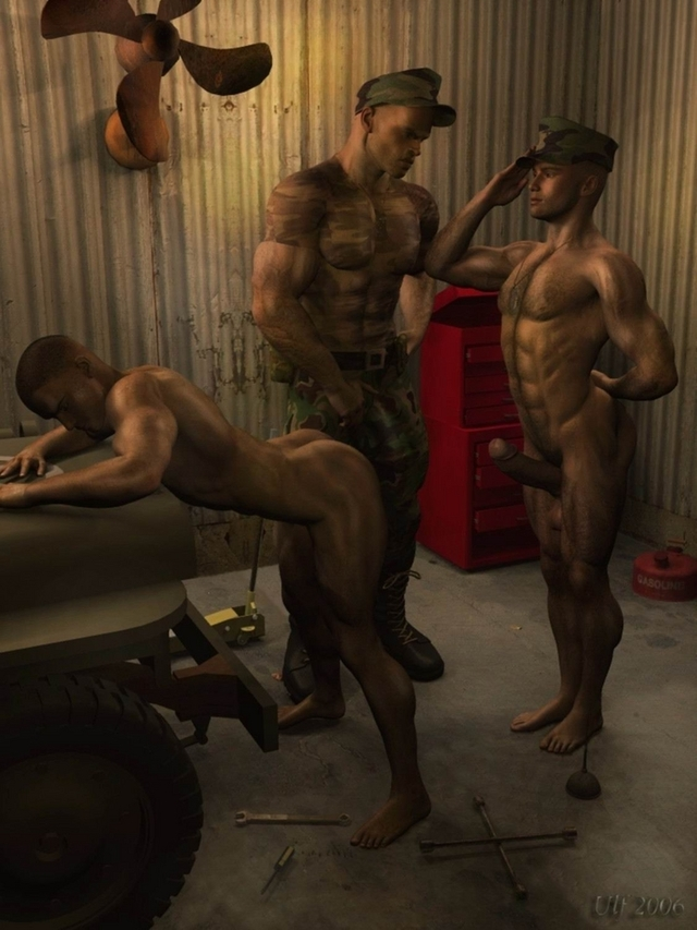 gay 3d porn gay army gays uniform performed