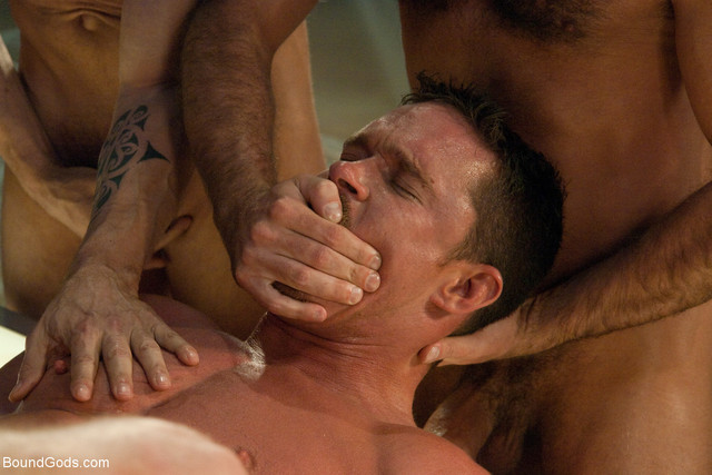 gay anal sex pictures gay man horny pictures bound bondage three gods dominated