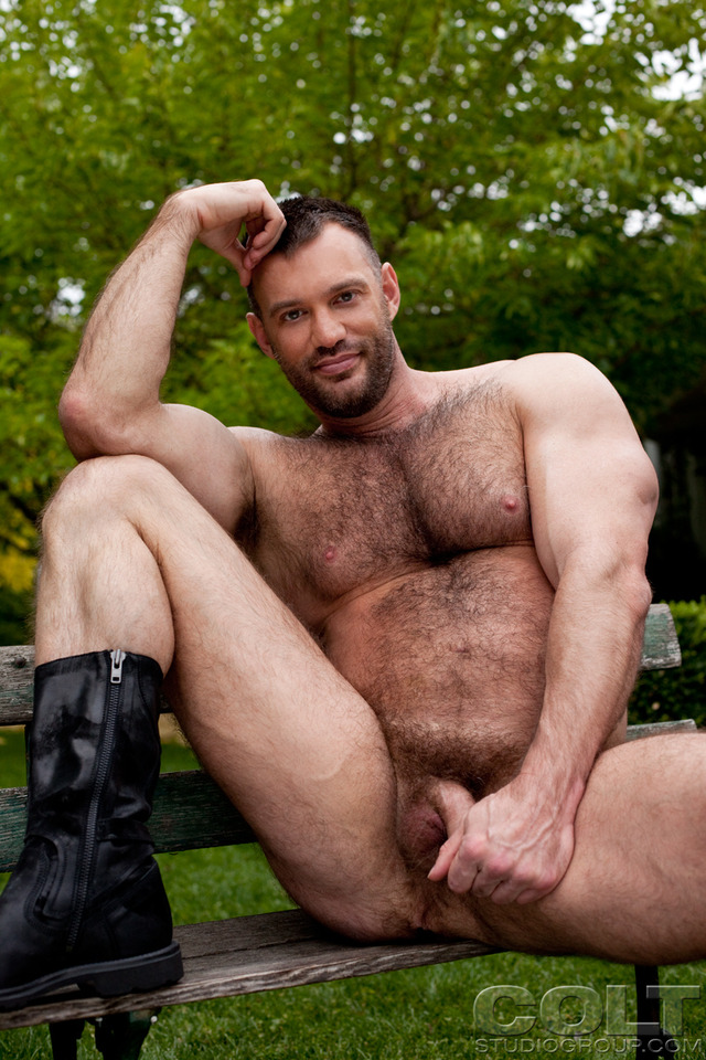 gay bears porn muscle porn gay star media original bear hardcore furry aaron cage pecs monstrous tooshie hairsute