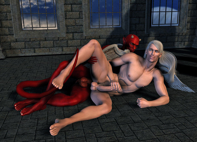 gay cartoon porn comic all angel out going devil