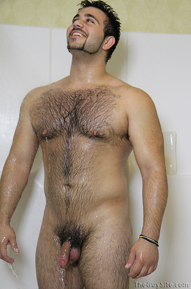 gay photo hairy hairy gay guy sexy shower