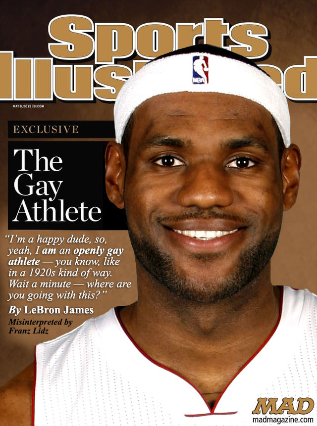 gay pictures magazine gay james athlete mad lebron