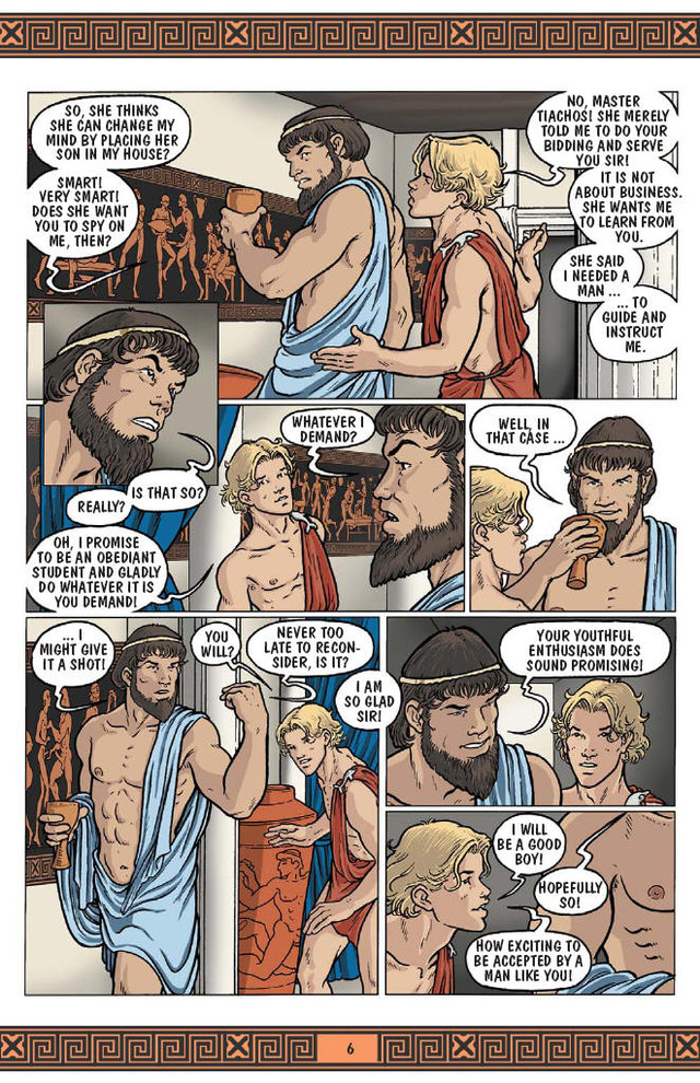 gay porn comics page ian tales ward willing hanks aegean