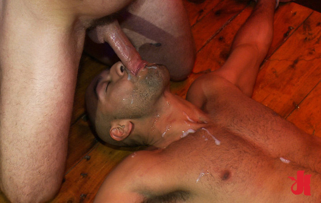 gay sex sucking cock sucks cock gets his gay fucked ass cum face tied collared slave device gangbangs down covered wooden smeared brutally