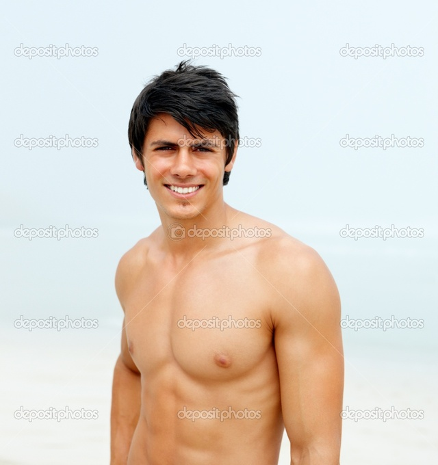 male bodybuilder penis man masculine strong depositphotos portrait smiling