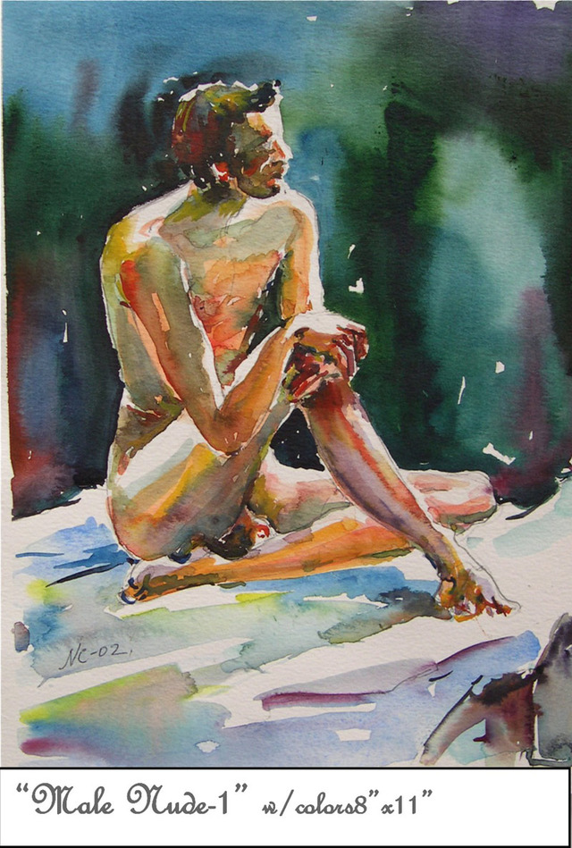 male pictures nude male nude watercolor