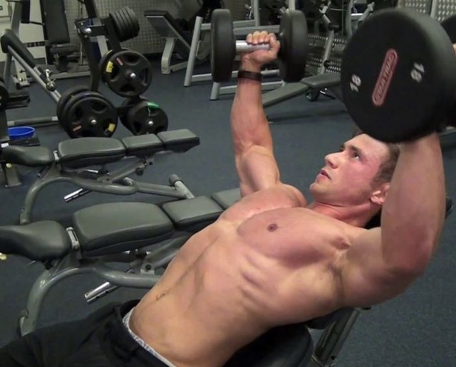 man muscle hunk muscle hunk lifting weights