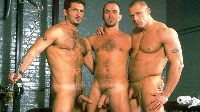 muscle men with big dicks threesome hot hunks dungeon