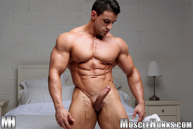 muscle men with big dicks dick hard his show bodybuilder macho nacho