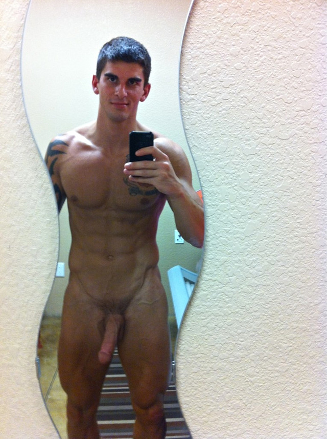 muscular guys with big cocks muscle pic dick naked fit guy mirror fratmen orion
